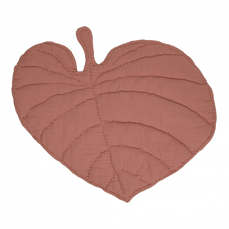 Kids decor furniture Nofred leaf pink blanket
