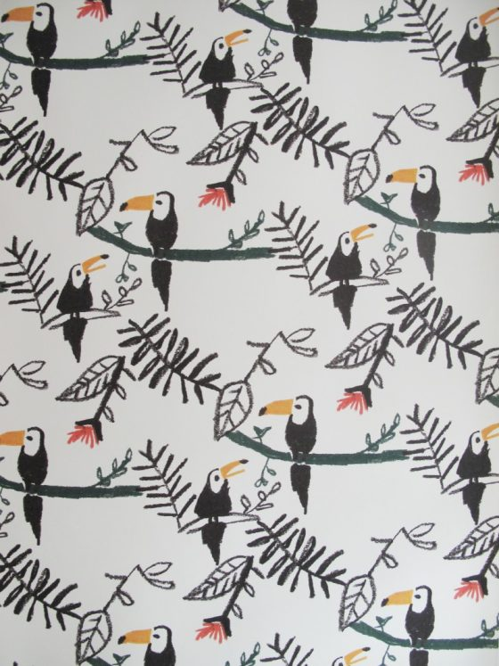 Kids decor furniture Nofred wallpaper kids collection toucans