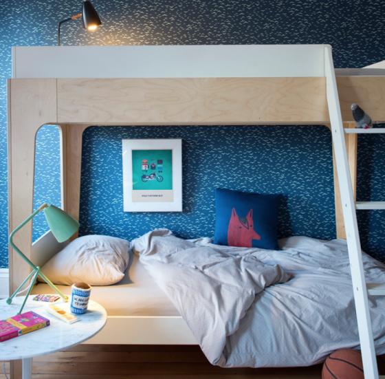 Literas madera para habitaciones juveniles de OEUF NYC