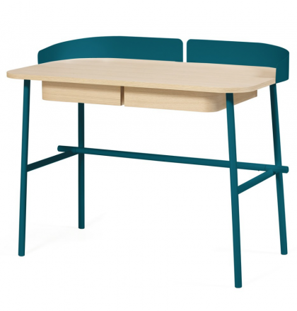 Desk Victor petrol blue by Hartô