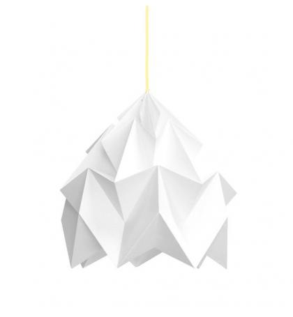 Moth XL Lámpara de papel origami Blanca