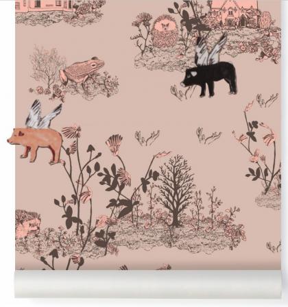 Papel Pintado Magnetico Bosque rosa Sian Zeng