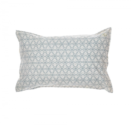 Dash Star Pillowcase Indigo Ivory 75×50