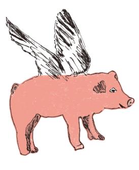 Pegatinas de Pared Cerdos voladores Sian Zeng