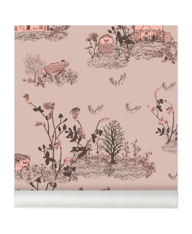Woodlands Wallpaper brown-pink