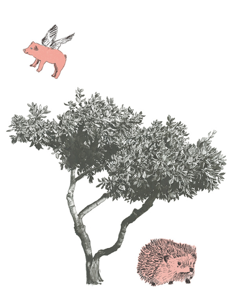 Croatian Tree fabric Sticker