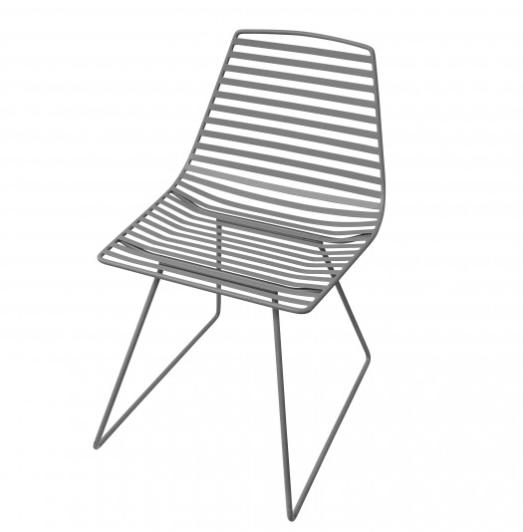 Sebra metal chair L dark grey