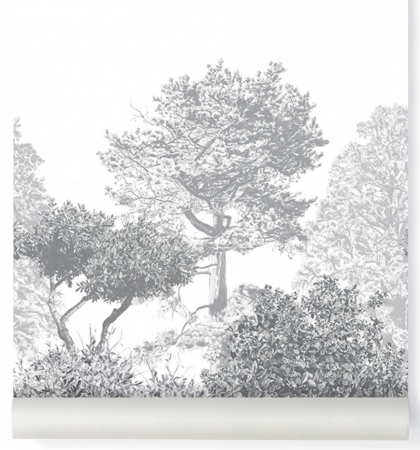Hua Tree Wallpaper Grey