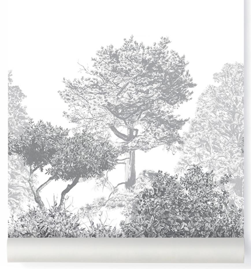 Hua Tree Wallpaper Grey