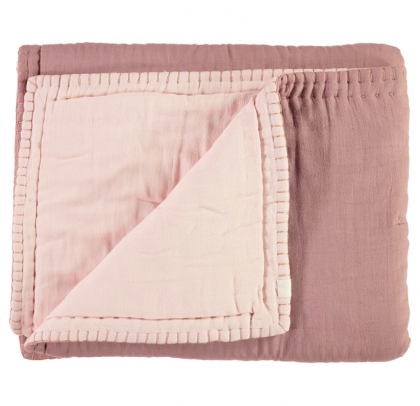 Cotton Filled reversible Quilt pink