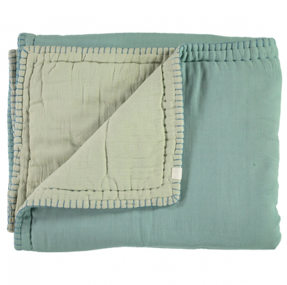 Cotton filled Reversible Quilt – Teal and Mint