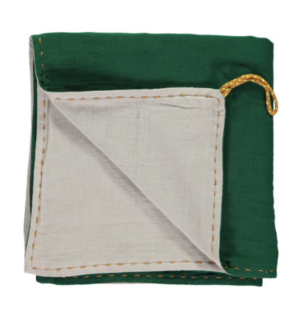 Double Layer Reversible Swaddle Blanket Green