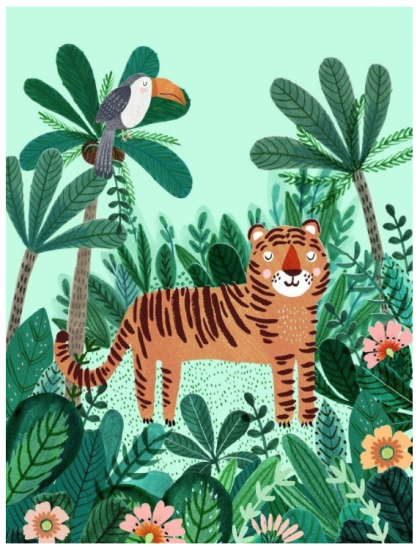 Poster Tiger 50×70
