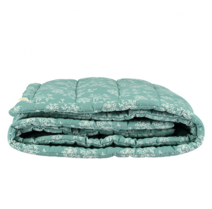 Hanako Floral Hand Quilted Blanket Mint