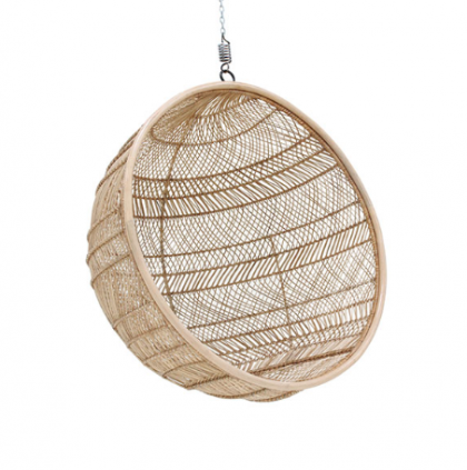 Rattan hanging bowl chair natural bohemian HK Living