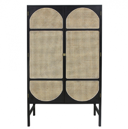 Retro webbing cabinet black HK Living