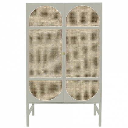 Retro webbing cabinet light grey HK Living