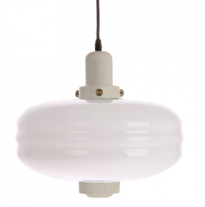 White glass pendant lamp L warm grey HK Living