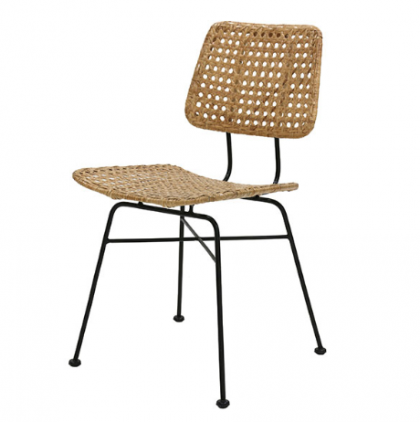 Rattan desk chair natural HK Living