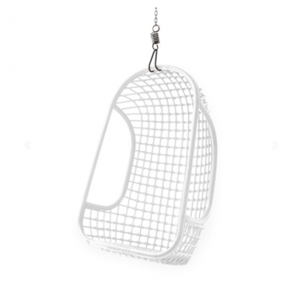 Hanging Rattan Chair white HK Living