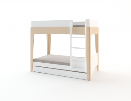 Perch Bunk 3 beds White/Birch OEUF NYC
