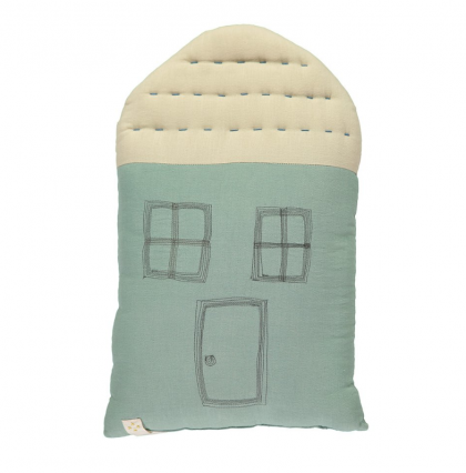 Midi House cushion Light Teal-Stone Camomile London