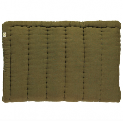 HAND QUILTED BLANKET MOSS GREEN 75×120