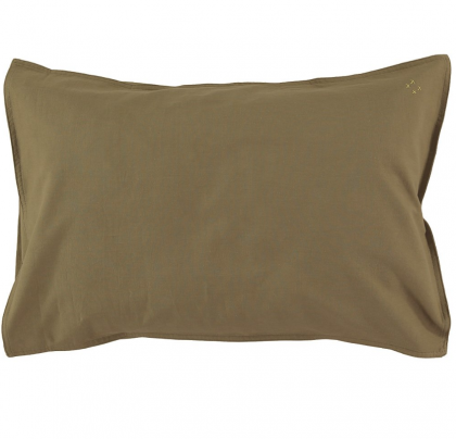 Organic Cotton Duvet Cover Olive Camomile London