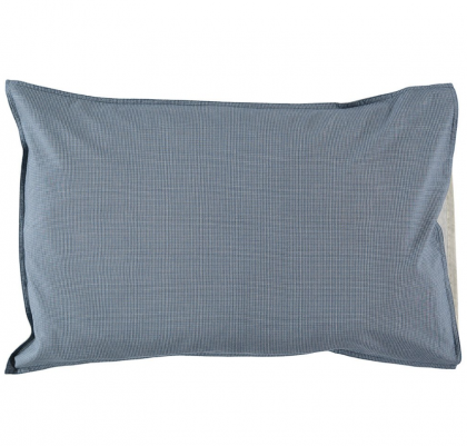 Mini Check Blue Pillow Case 50×75 Camomile London
