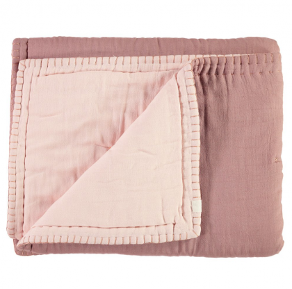 COTTON FILLED REVERSIBLE QUILT Blush – Pink