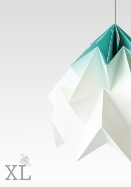 Moth XL Paper Origami Lamp Gradient