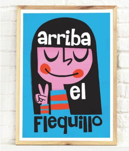 """Arriba el Flequillo"" Pintachan Print from Plom Gallery"