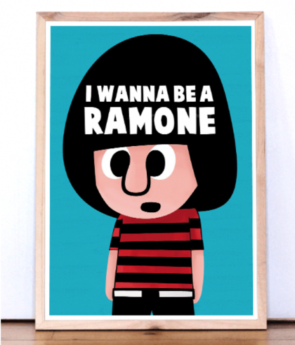 """I wanna be a Ramone"" Pintachan Print"