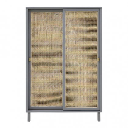 WEBBING SLIDING DOOR CABINET GREY HK LIVING