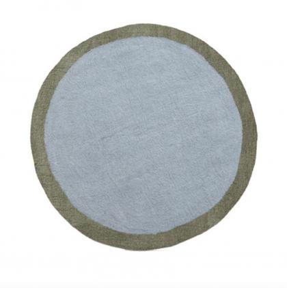 Alfombra redonda Lumbini Azul – Gris MUSKHANE