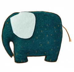 Elephant Cushion by Muskhane