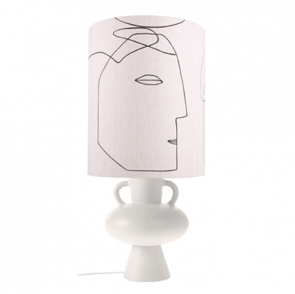 FACES STONEWARE LAMP