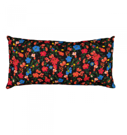 cushion with filler big – grey flowers