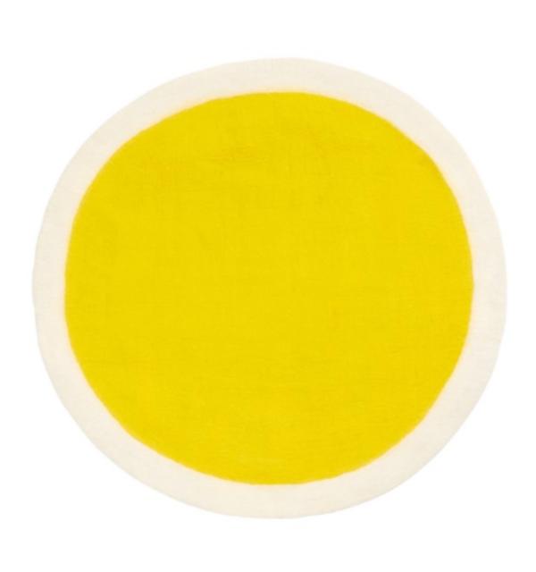 Alfombra Redonda amarilla Muskhane