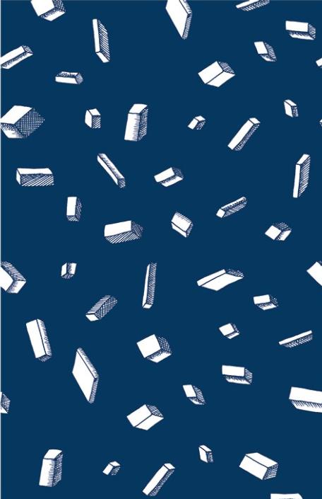 Carlton Blue Wallpaper by Bien Fait Paris