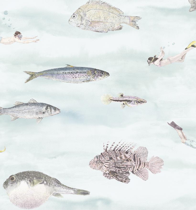 Classic Fish Wallpaper Sian Zeng