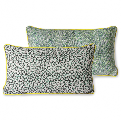 doris for hkliving: printed cushion green (35×60)