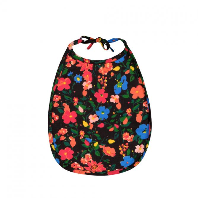 Babero flores de Le Petit Lucas du Tertre